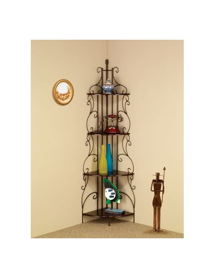 Copper Corner Rack with 4 Shelves