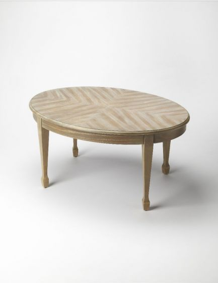 Clayton Driftwood Oval Cocktail Table