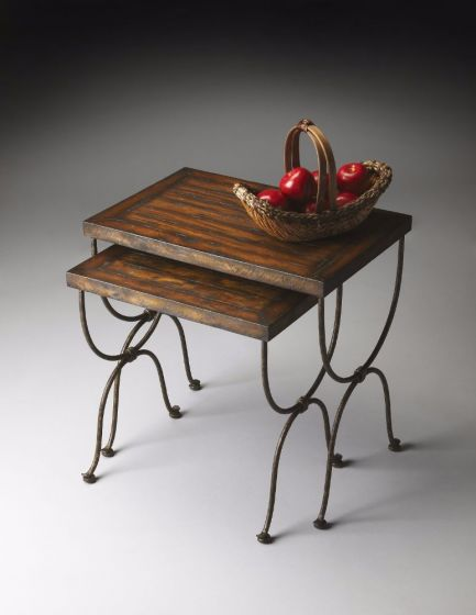 Rustic Metal and Gemelina Nesting Tables
