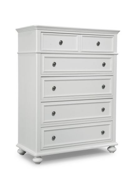 Madison Drawer Chest In Natural White