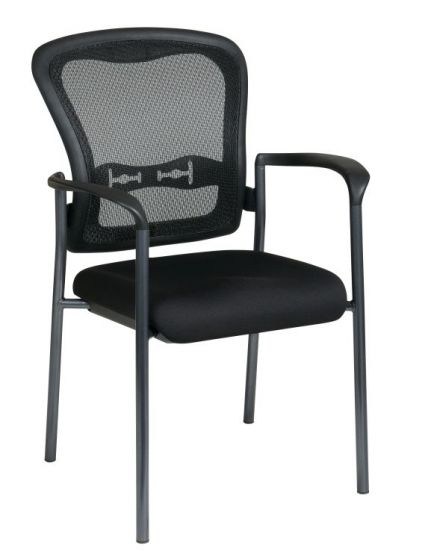 Titanium Visitors Chair with Arms and ProGrid Back in Coal