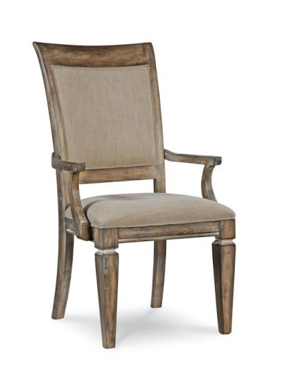 Brownstone Village Uph. Back Arm Chair In Aged Patina