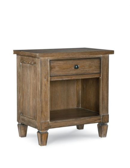 Brownstone Village Open Night Stand In Aged Patina