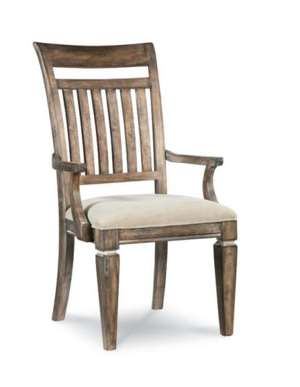 Brownstone Village Slat Back Arm Chair In Aged Patina