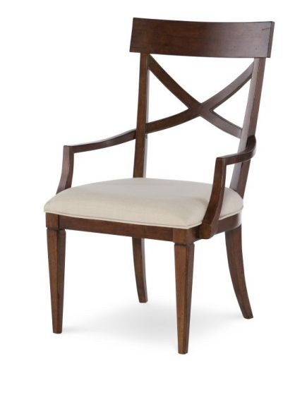 Upstate X-Back Arm Chair In Conciare