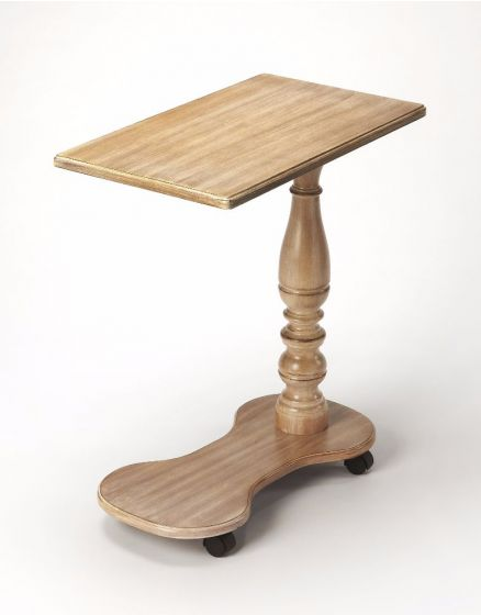 Mabry Driftwood Mobile Tray Table
