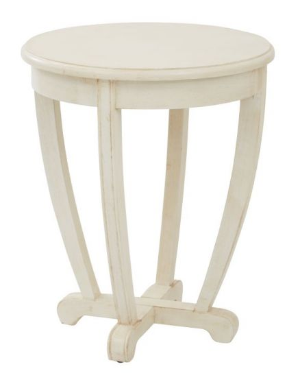 Tifton Round Accent Table in Cream