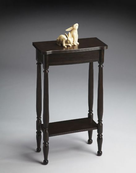 Whitney Rubbed Black Console Table