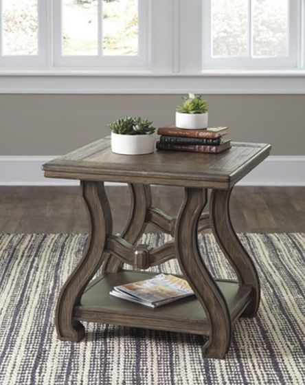 Tanobay Square End Table in Gray