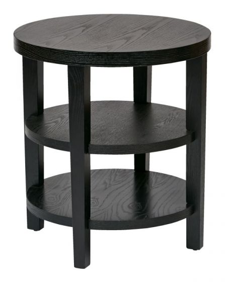 Merge 20'' Round End Table in Black