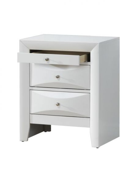 Bob's Nightstand Beveled Drawer Fronts in White