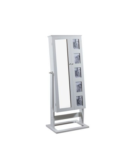 Cheval Photo Armoire with White Finish
