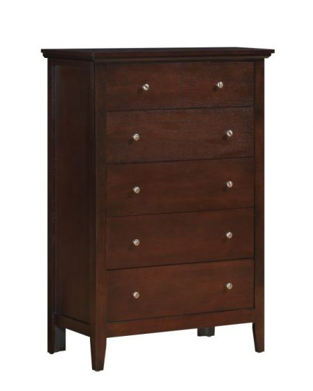 5 Drawer Chest in Cappuccino