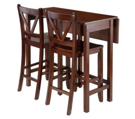 Lynnwood 3 Piece Table With 2 Counter V Back Stools