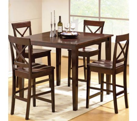Cobalt 5 Pieces Counter Set In Espresso Dining Sets