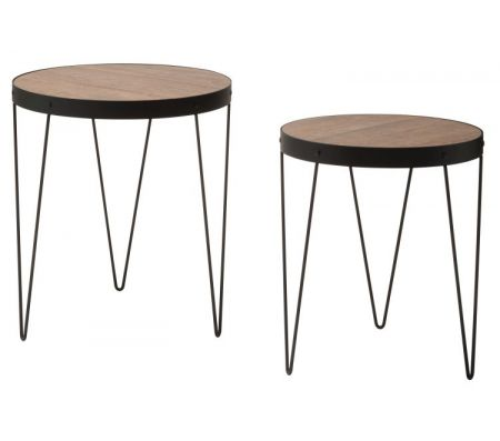 Pasadena Nesting Accent Tables In Calico Amp Matte Black