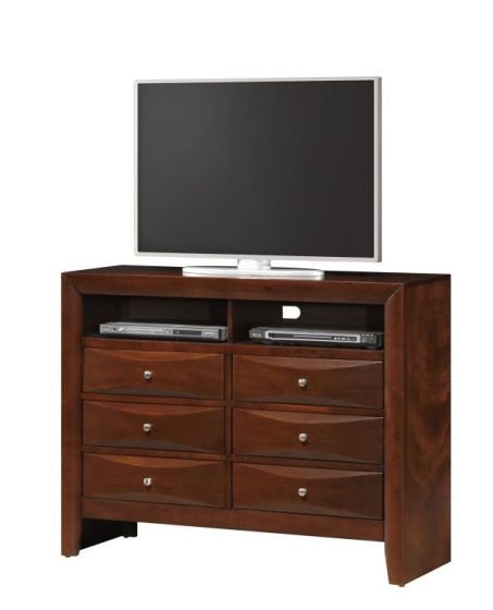 Media Chest with Beveled Drawer Fronts in Cherry