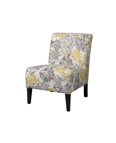 Lily Bridey Accent Chair in Yellow and Gray