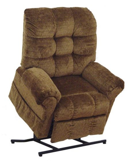 Omni Power Lift Full Lay-Out Chaise Recliner in Havana