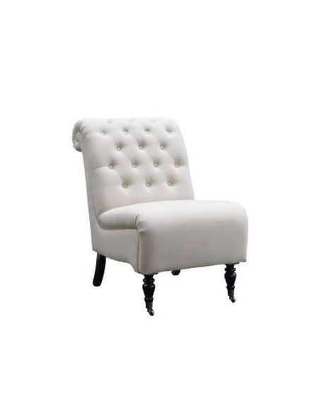 Cora Natural Roll Back Tufted Chair