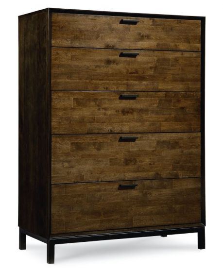 Kateri Drawer Chest In Hazelnut W/Ebony Exteriors