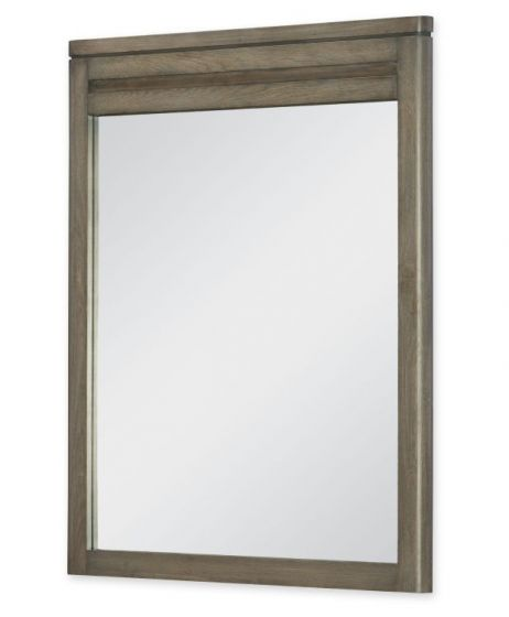 Big Sky Vertical Mirror In Weathered Oak