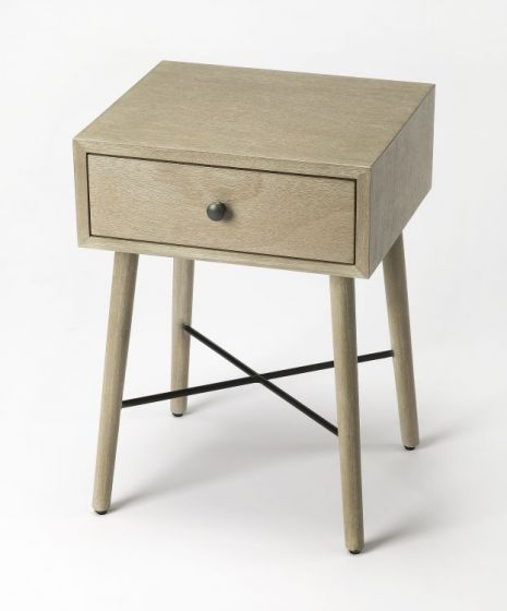 Delridge Gray End Table