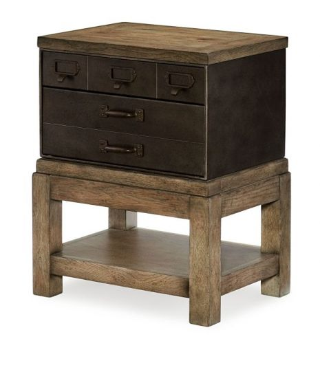 Metalworks Toolbox End Table In Factory Chic
