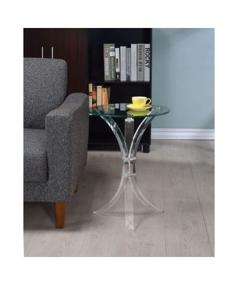 Accent Table with Glass Top