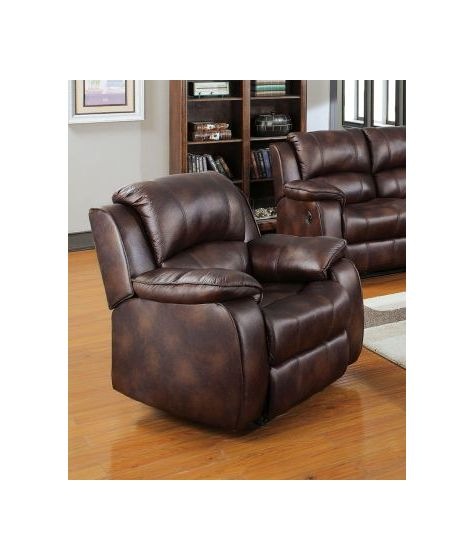 Zanthe Recliner (Motion) in Brown P-Mfb