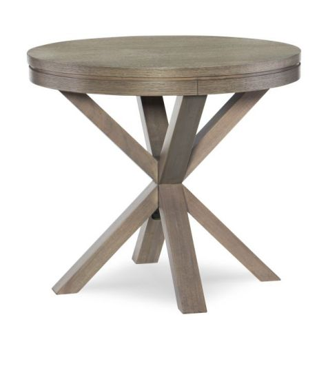 Highline Round Lamp Table In Greige