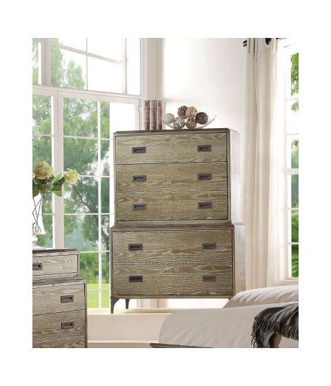 Athouman Chest in Weathered Oak
