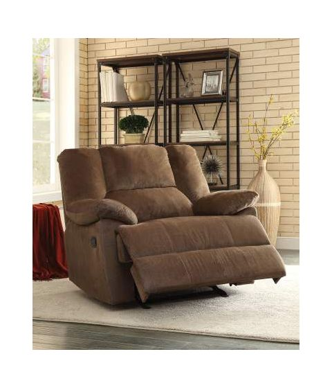 Oliver Oversized Glider Recliner (Motion) in Chocolate