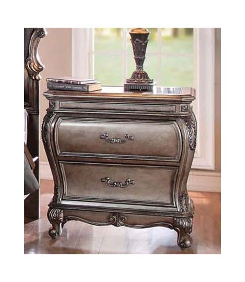 Chantelle French Rococo Nightstand with 2 Storage Drawers