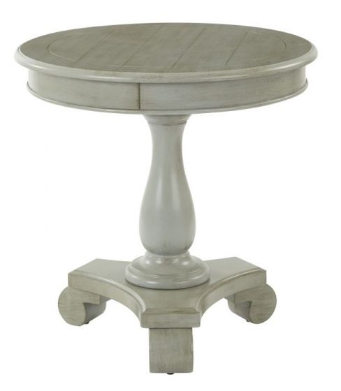 Avalon Round Accent table in Antique Grey