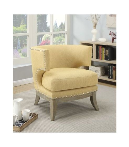 Barrel Back Upholstered Accent Chair