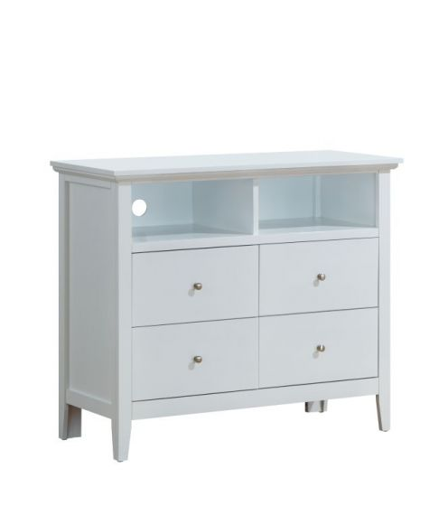 4 Drawer Media Chest in White