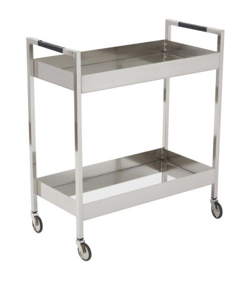 Wilshire Stainless Cart in Brushed Nickel