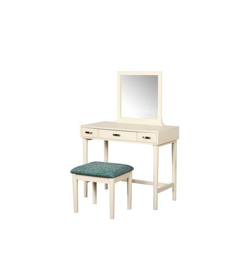 Garbo Vanity With Bench in Cream