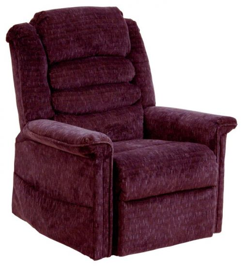 Full Lay-Out Chaise Recliner w/Heat & Massage in Vino