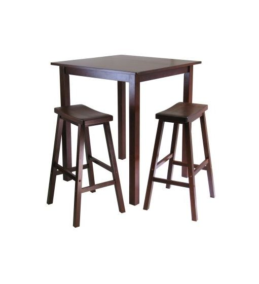 Parkland 3 Piece Square Pub Table Set
