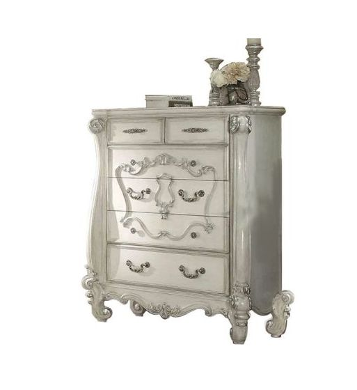 Versailles Bone White 5-Drawer Chest