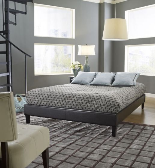 Heathcliff BrownUpholstered Platform Bed