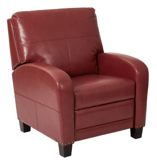 Wellington Recliner in Merlot