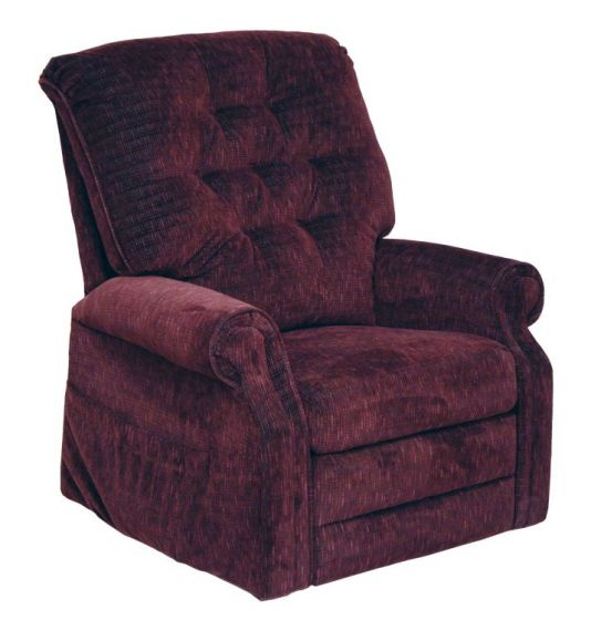 Patriot Power Lift Full Lay-Out Recliner in Vino