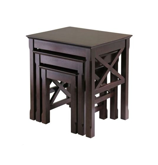 Xola 3 Piece Nesting Table Set in Cappuccino Finish