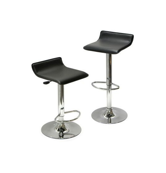 Spectrum Adjustable Air Lift Bar Stools in Black