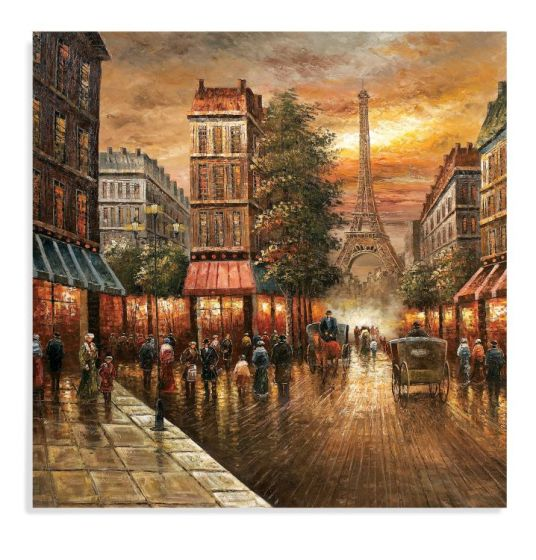 Paris Nights in Canvas Wrap