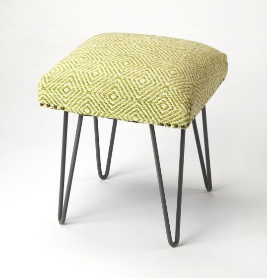 Channahon Green Upholstered Stool