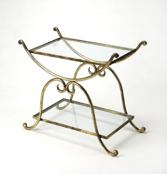 Desdemona Gold Serving Table
